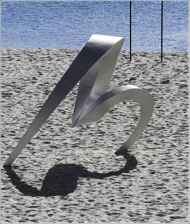 Johannes Pannekoek (WA), signature, Sculpture by the Sea, Cottesloe 2014