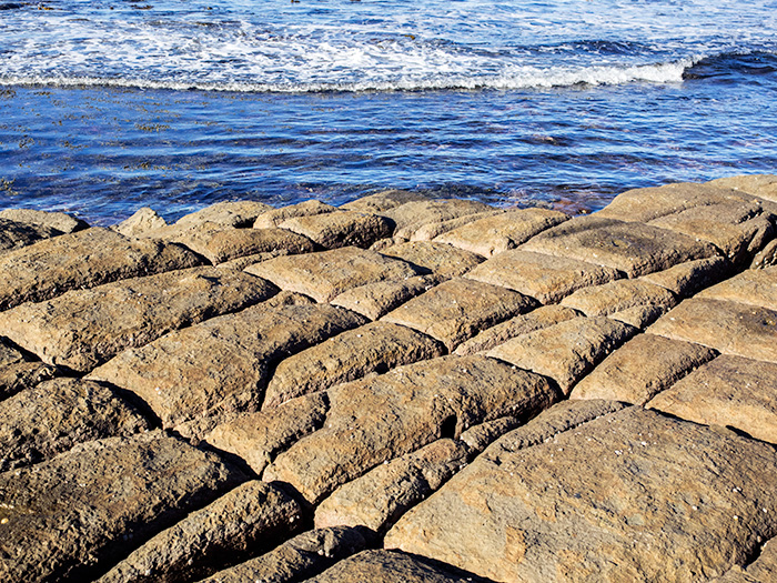 Tessellated-shoreline on the Tasman peninsula, Tasmania,Australia