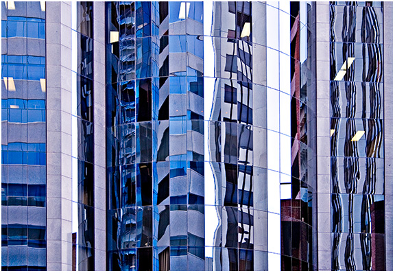 St Georges Terrace canyons of glass and steel