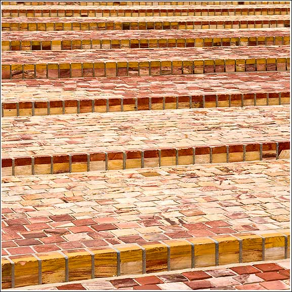 Federation Square Steps so much colour full clay